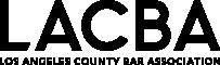 The Los Angeles County Bar Association Logo Black